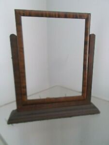Vintage Art Deco Tiger Striped Oak Wooden Swing Picture Frame On Stand Hold 8x6