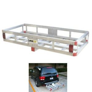 Aluminum Cargo Carrier Luggage Bumper Rack 2 Receiver Hitch Mount Tray Rv Truck