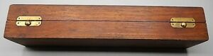 Antique Solid Walnut Wooden Tool Or Medical Instrument Box 12 X 3 X 2 1 4 High