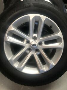 Set Of 4 Oem Ford Explorer 18 Inch Silver Alloy Wheels And Tires