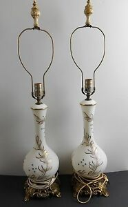 French Hand Painted Vintage Lamps Price Reduced Again