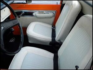 Bronco Seat Upholstery For Front Buckets 1968 1977 Black In Stock