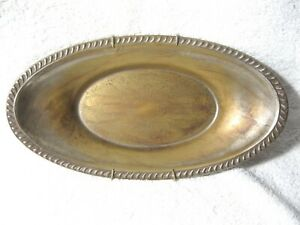 Vintage Crosby Silver Plated Bread Tray Platter Serving Dish