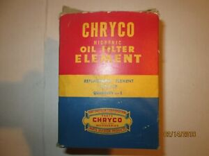 Chryco Oil Filter Element Micronic 1107410 Mopar Dodge Plymouth Nos Oem Factory