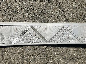 Antique Architectural Aluminium Frieze Art Deco Building Facade Vtg Old 20s 30s