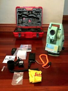 Leica Tcra1101 Plus Robotic Total Station Tcra 1101plus New Charger
