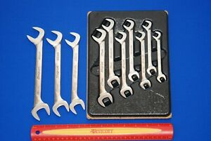 Snap on 10 Pc Vs Series 4 way Angle Head Metric Open End Wrench Set Ships Free