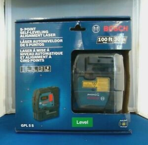 Bosch Gpl 5 5 point Self Leveling Alignment Laser Level brand New Sealed