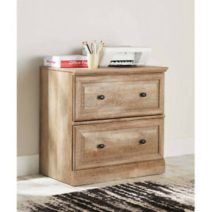 Lateral File Cabinet Home Office Filing Wood Grain Finish 2 Wide Drawer Legal