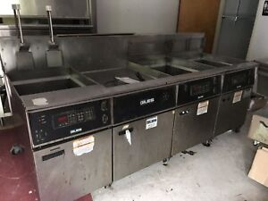 Used Giles 3 Bay Electric Deep Fryer W Dump Station Eof 24 Eof bib Restaurant