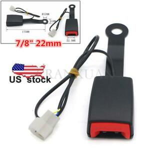 Black 7 8 Car Safety Seat Belt Buckle Socket Plug Connector W Warning Cable