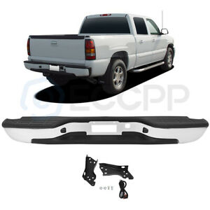 New Complete Chrome Rear Bumper For 1999 2006 Chevy Silverado Gmc Sierra 1500
