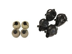 Family Kit 2 Adult 2 Children Israeli Gas Mask W Original Type 80 Filter