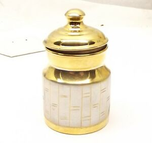 India Sterling Silver Spice Pot Dish Box Salt Incense Box Jar Curry Powder Solid