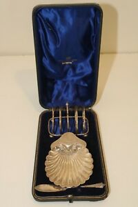 Antique Josiah Williams Co Sterling Silver Toast Rack Butter Dish Knife Set