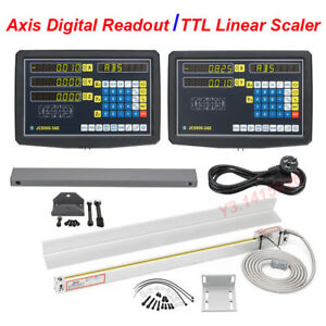 2 3 Axis Digital Readout Linear Scale Dro Display Cnc Milling Lathe Encoder