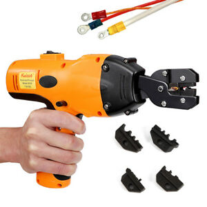 120kn Wire Battery Powered Cable Lug Terminal Crimpers Crimping Tools 4 Dies