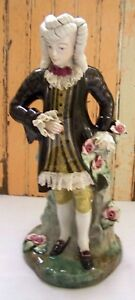 Vintage Cordey Dresden Lace Porcelain 13 Inch Tall Male Gentleman Figurine