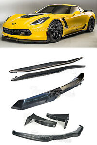 14 up Corvette C7 Carbon Flash Spoiler With Carbon Fiber Front Lip