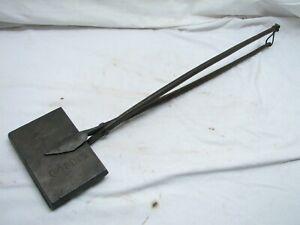 Cairo Cast Iron Waffle Iron Hand Forged Handles Primitive Fireplace Kitchen Tool