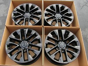 18 Lexus Gx460 Gloss Black Wheels Rims Factory Oem 2015 2016 2017 Set 4 74297