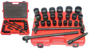Automotive Tools Combination Impact Socket Set 27 Pcs 3 4 Drive Pro