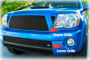 Grillcraft Upper lower Grilles For 2011 Toyota Tacoma Pre X runner Black