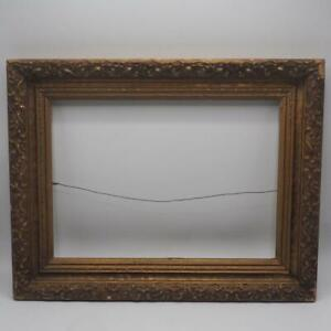 Vintage 14 X18 Painted Gold Wood Picture Frame