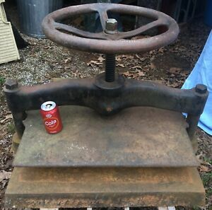 Huge Vintage Industrial Book Press 27x20 Plate 397 Pounds Biggest U Will C