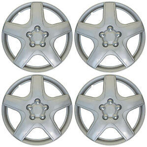 4 Pc Hub Cap Abs Silver 15 Inch Rim Wheel Cover Oem Replica Set Caps Covers