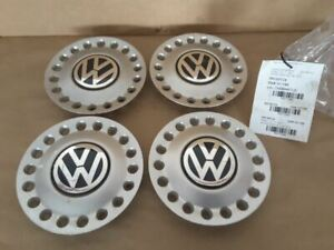 Wheel Caps Only 16x6 1 2 Alloy 6 Spoke Conceal Lug Nuts Fits 98 05 Beetle 172461