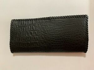 Oil Field Alligator Print Leather Tally Book Cover 8 75 X 4 K