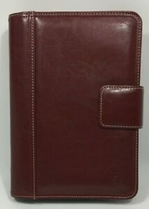 Franklin Covey Planner Red Burgundy 7 Ring Pockets 8