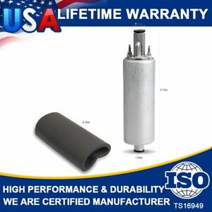 Gsl392 Universal High Flow Pressure Inline 255lph Fuel Pump W kits For Walbro