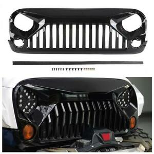 2007 2017 Jeep Wrangler Wrangler Unlimited Jk Front Grill Glossy Black