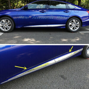 New Stainless Steel Body Door Side Molding Trim For Honda Accord 10th 2018 2020