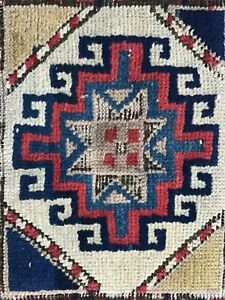 Antique Caucasian Kazak Karabagh Rug 3 5 X 6 10 Late 19th C