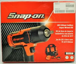 Snap on 18v Lithium Cordless Impact Wrench Kit Ct8850dem W 2 Batteries