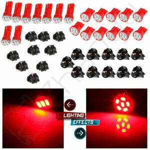 T5 T10 Red Led Instrument Cluster Panel Dash Light Kits For Toyota Camry Corolla