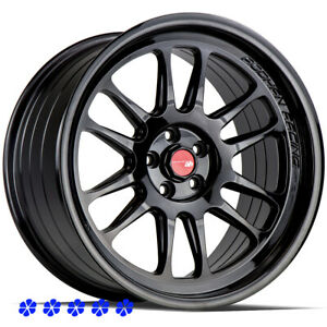 Aodhan Ah07 Wheels 18x8 5 35 Black Rims 5x114 3 04 Acura Tl Rl 06 Rsx 95 Legend