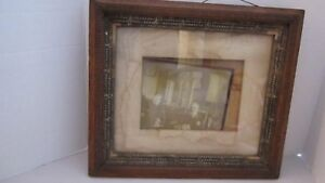 Antique Wood Carved Picture Frame Silver Gilded 13 5 X15 5 Heydenryk Style
