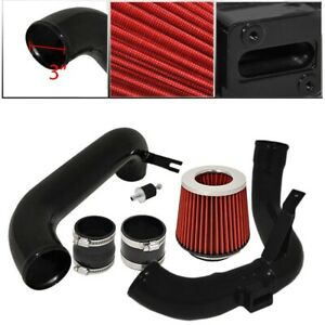 For 12 15 Honda Civic dx Lx Ex Model 3 Cold Air Intake Black Air Filter Red