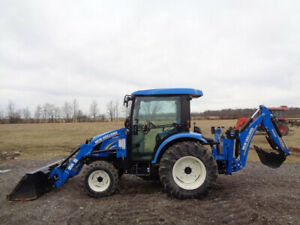 2014 New Holland Boomer 3040 Cab heat air 4wd Loader Backhoe R4 159 Hours