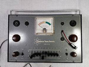 Vtg Commercial Trades Institute Tc 10 Tube Tester W charts Works