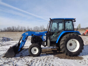 2002 New Holland Tl90 Tractor Cab heat air 2wd Bush Hog M446 Loader 2 291hrs