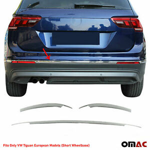 Chrome Rear Bumper Trunk Streamer Trim S Steel Fits Vw Tiguan Short 2018 2021