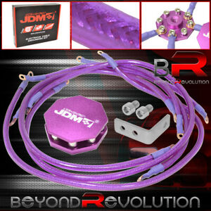 10mm Ground Wire Kit Earth Grounding Ground System Purple Octagon Wire Cable