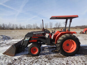 1999 Kubota M4700 Tractor 2wd Orops Quicke 310 Loader 1 Remote 2 488 Hours