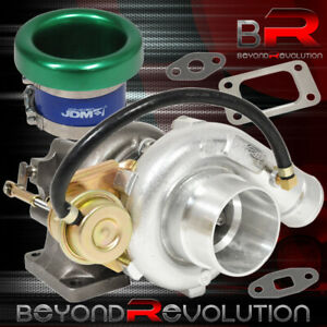 T3 T4 Turbo Charger Flange Vband Internal Wastegate Velocity Stack Green