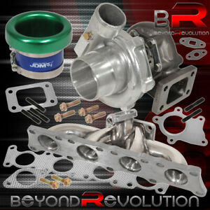 Vw Audi 1 8 Turbo Charger Manifold T3 T4 Oil Cooled Velocity Stack Green